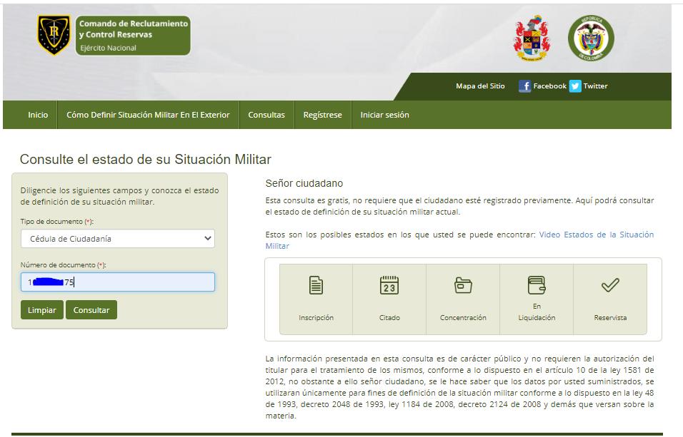 consulta estado libreta militar