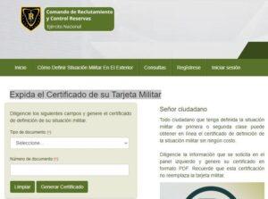 Certificado libreta militar